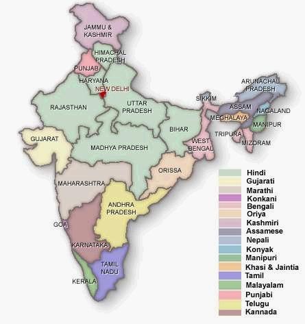 map-india-languages